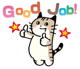 Pouch the Cat 4 English sticker #1459606