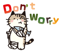 Pouch the Cat 4 English sticker #1459608