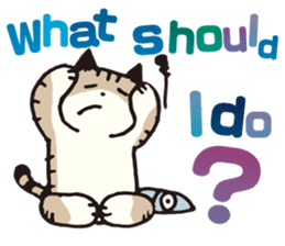 Pouch the Cat 4 English sticker #1459610