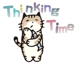 Pouch the Cat 4 English sticker #1459611