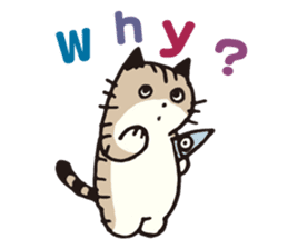 Pouch the Cat 4 English sticker #1459617