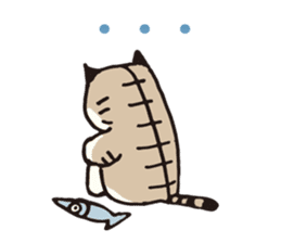 Pouch the Cat 4 English sticker #1459623