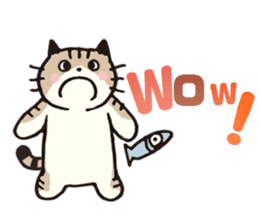 Pouch the Cat 4 English sticker #1459624