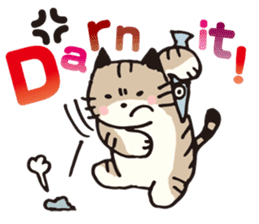 Pouch the Cat 4 English sticker #1459628