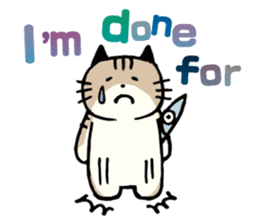Pouch the Cat 4 English sticker #1459631
