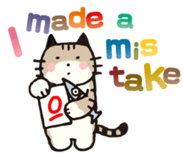 Pouch the Cat 4 English sticker #1459633