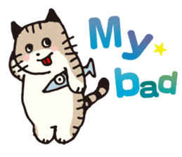 Pouch the Cat 4 English sticker #1459636