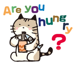 Pouch the Cat 4 English sticker #1459637