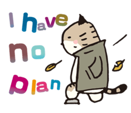 Pouch the Cat 4 English sticker #1459639