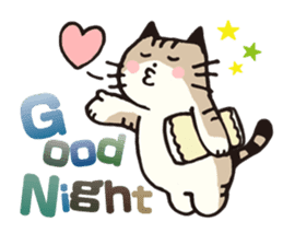 Pouch the Cat 4 English sticker #1459640