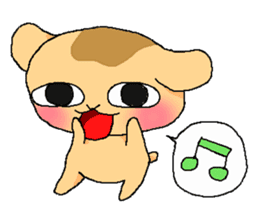 Little dog Hana sticker #1461872
