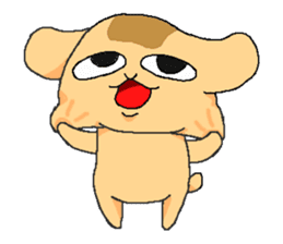 Little dog Hana sticker #1461874