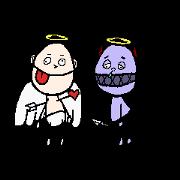 สติ๊กเกอร์ไลน์ Annoying Angel and Coward Devil