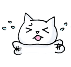 The white cat which talks sticker #1467386