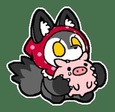 LITTLE RED HOOD WOLF-CHAN sticker #1470024