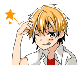 A fiddly boy! sticker #1471450