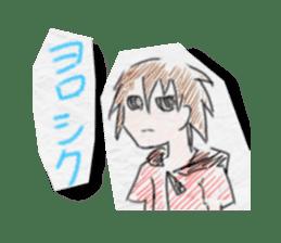 Crayon graffiti sticker #1473893