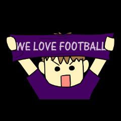 Watching soccer games Sticker