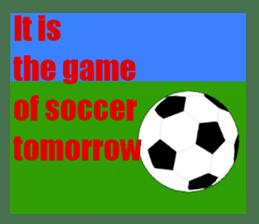 Watching soccer games Sticker sticker #1477096