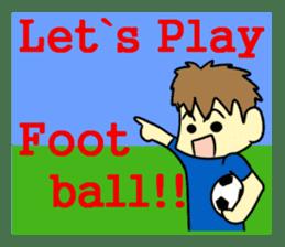 Watching soccer games Sticker sticker #1477135