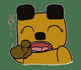 Cheeky bear Sticker sticker #1477330