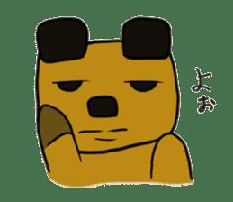 Cheeky bear Sticker sticker #1477332