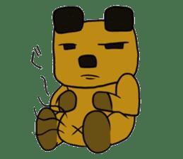 Cheeky bear Sticker sticker #1477334