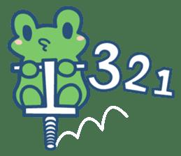 Hop Step Cute Frog sticker #1478803