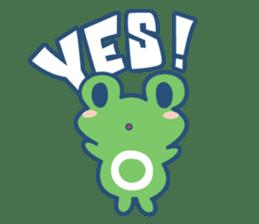 Hop Step Cute Frog sticker #1478814