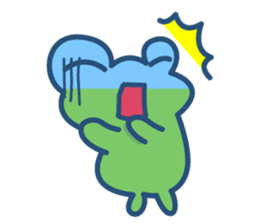 Hop Step Cute Frog sticker #1478817
