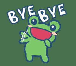 Hop Step Cute Frog sticker #1478834