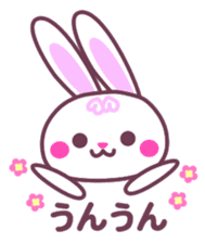 Response of a rabbit sticker #1479760