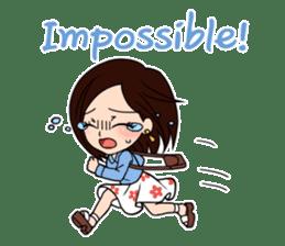 "StampGirl ""Extraordinary"" English sticker #1481585"