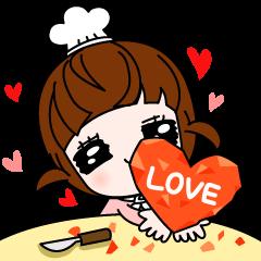 Talk sticker-Lovely girl