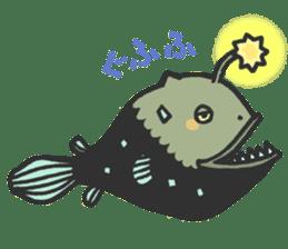 Creature of the deep sea sticker #1483776