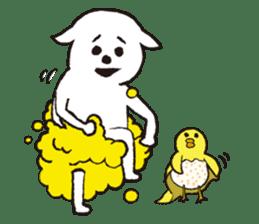 sheep mery sticker #1485218