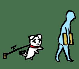 A sad dog sticker #1486282