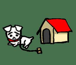 A sad dog sticker #1486283