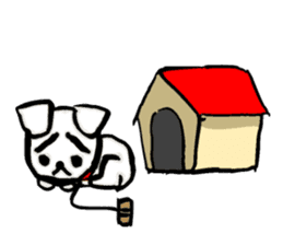 A sad dog sticker #1486284