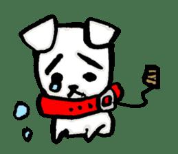 A sad dog sticker #1486286