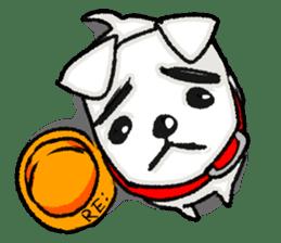 A sad dog sticker #1486289