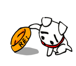 A sad dog sticker #1486290
