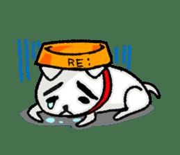A sad dog sticker #1486292