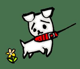 A sad dog sticker #1486297