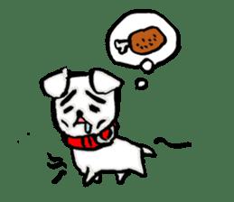 A sad dog sticker #1486300