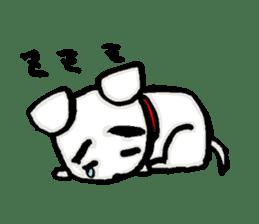 A sad dog sticker #1486301