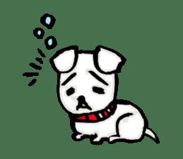 A sad dog sticker #1486302
