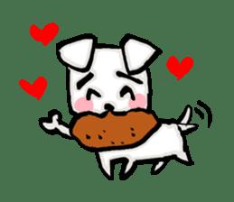 A sad dog sticker #1486304