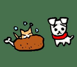 A sad dog sticker #1486306