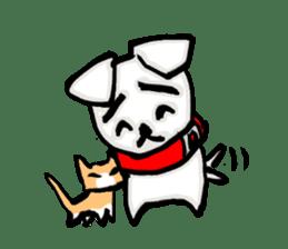 A sad dog sticker #1486307
